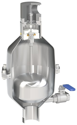 SCS-AS Raw water anti-slam surge prevention combination air valve for industry and aggressive environments