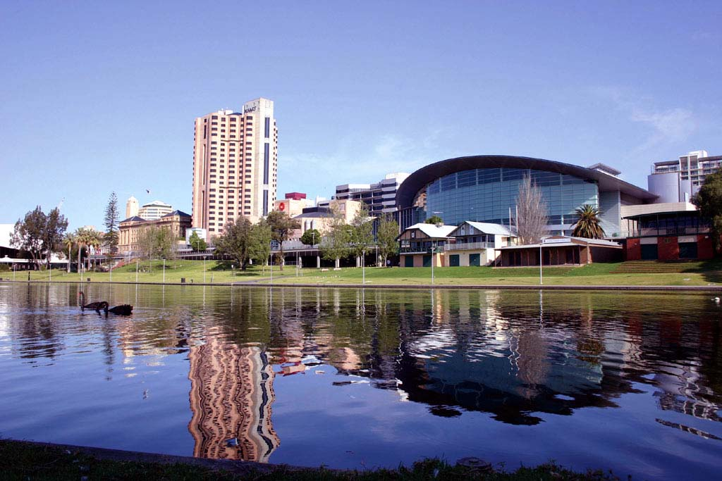 Adelaide over the water