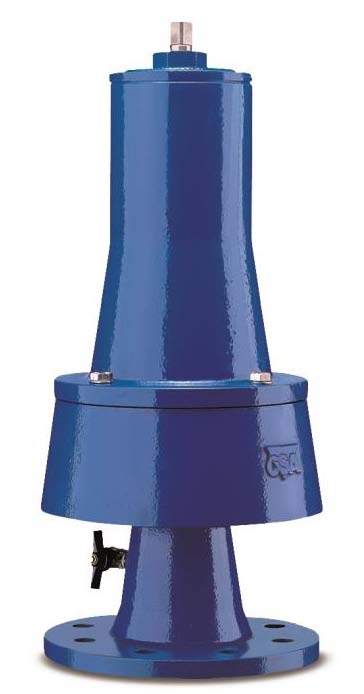 VRCA Fast acting spring loaded pressure relief valve