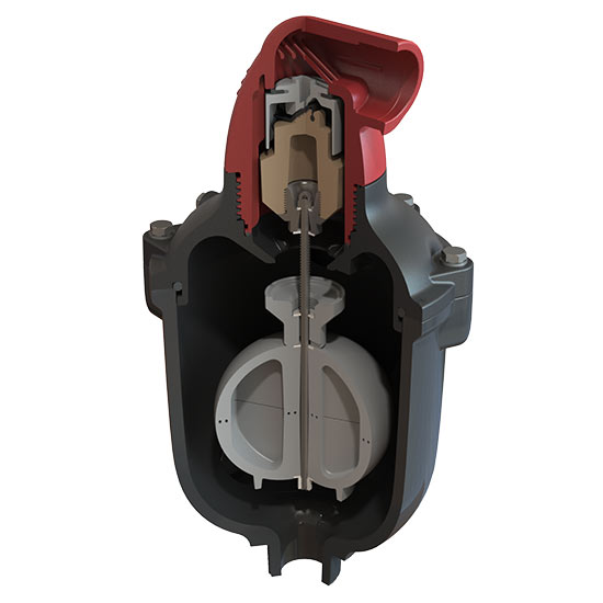 C50-IP sewage air release valve with inflow protection