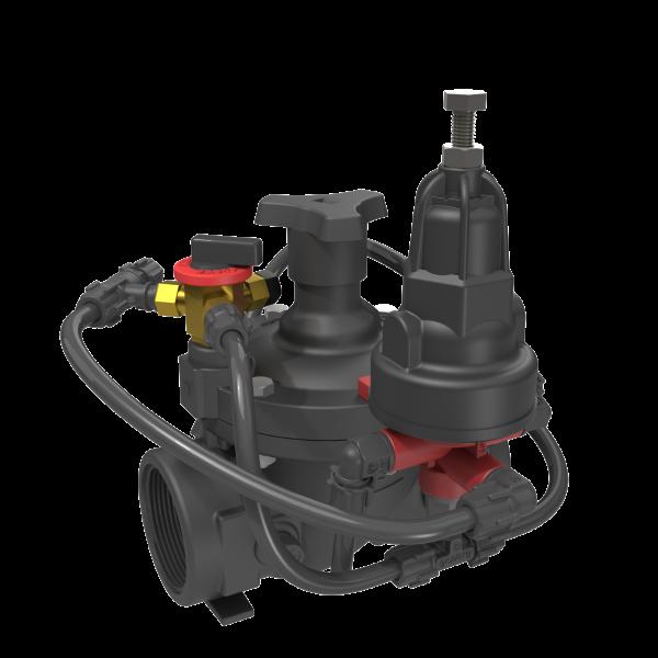 Pressure reducing valve with shuttle tee IR-220-50-XZ