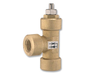 Needle and check valve (opening speed control)