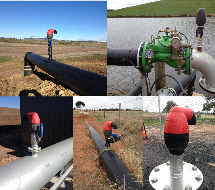 How to install an air release valve in an irrigation pipeline - Bermad