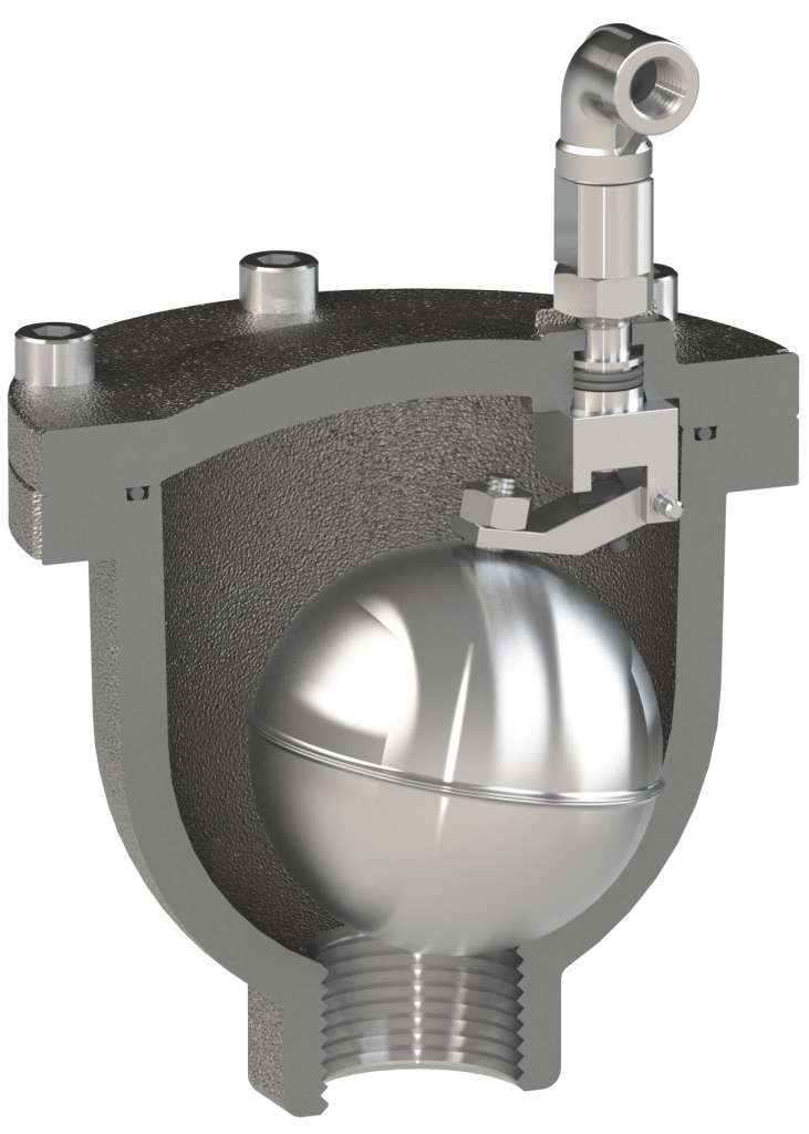 Ventolo-ST-HR Hot water air release valve for buildings